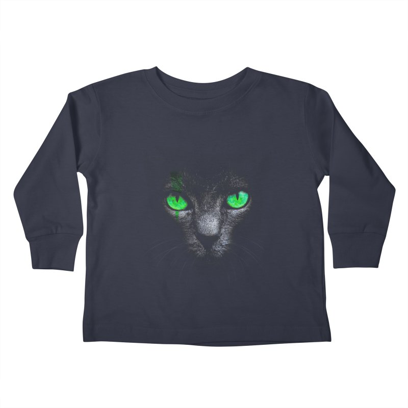Black Cat Kids Toddler Longsleeve T-Shirt by Sitchko