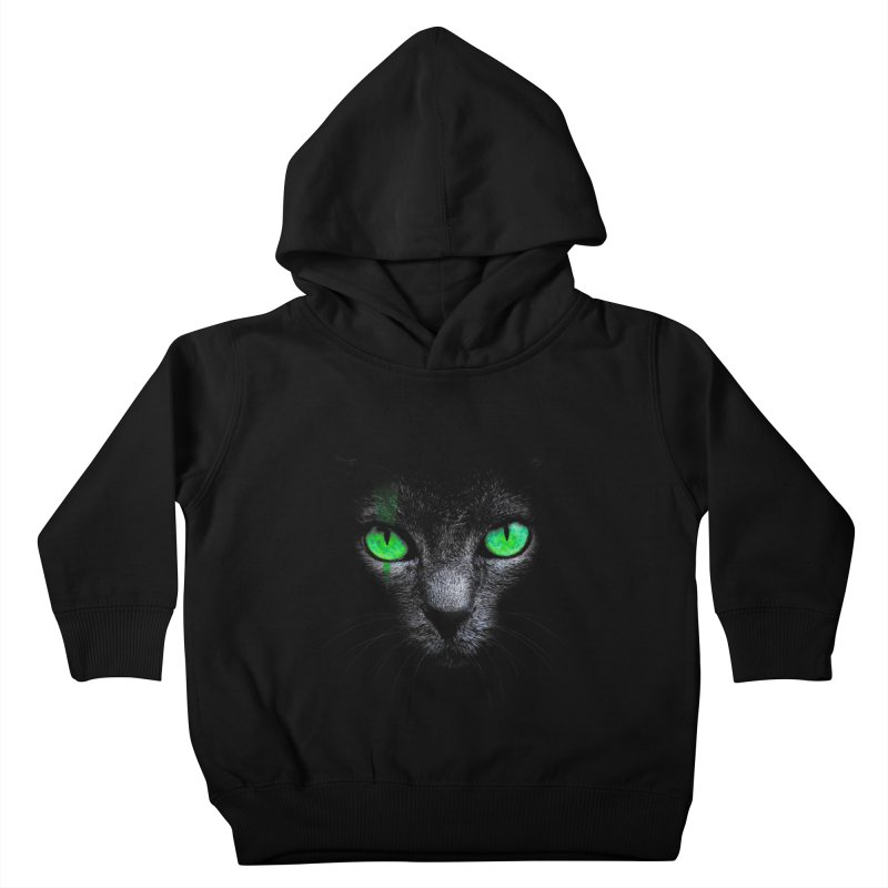 Black Cat Kids Toddler Pullover Hoody by Sitchko