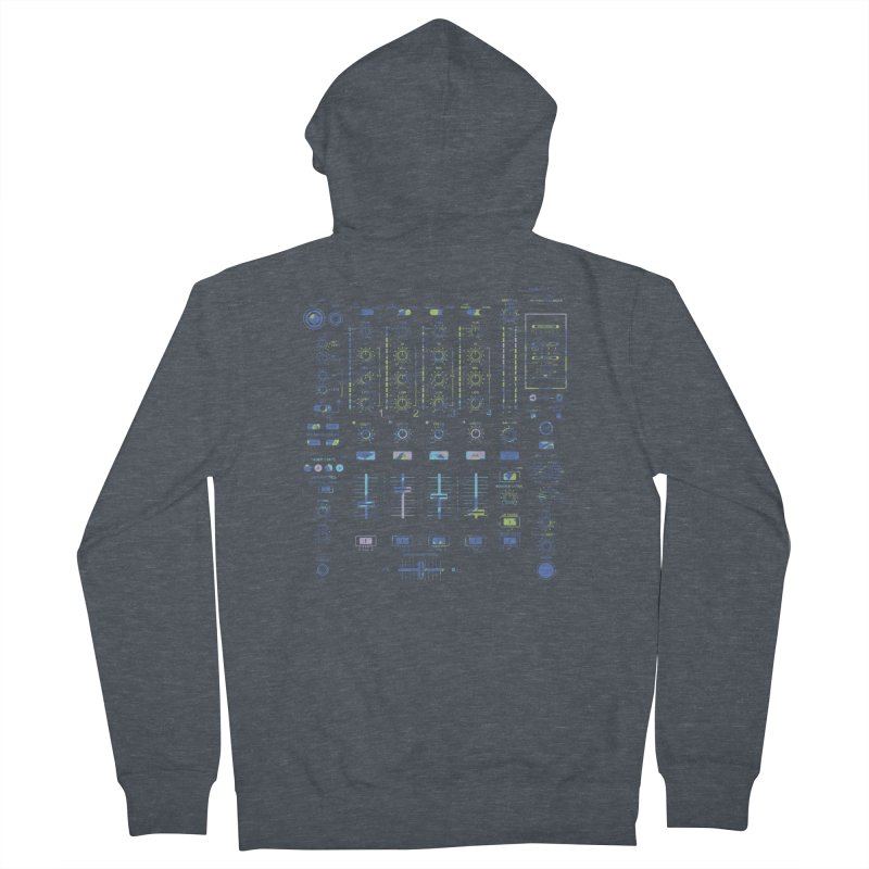 DJ Mixer Men's Zip-Up Hoody by Sitchko