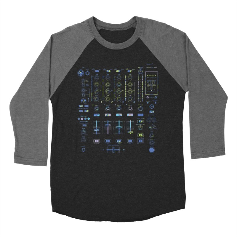 DJ Mixer Men's Baseball Triblend T-Shirt by Sitchko