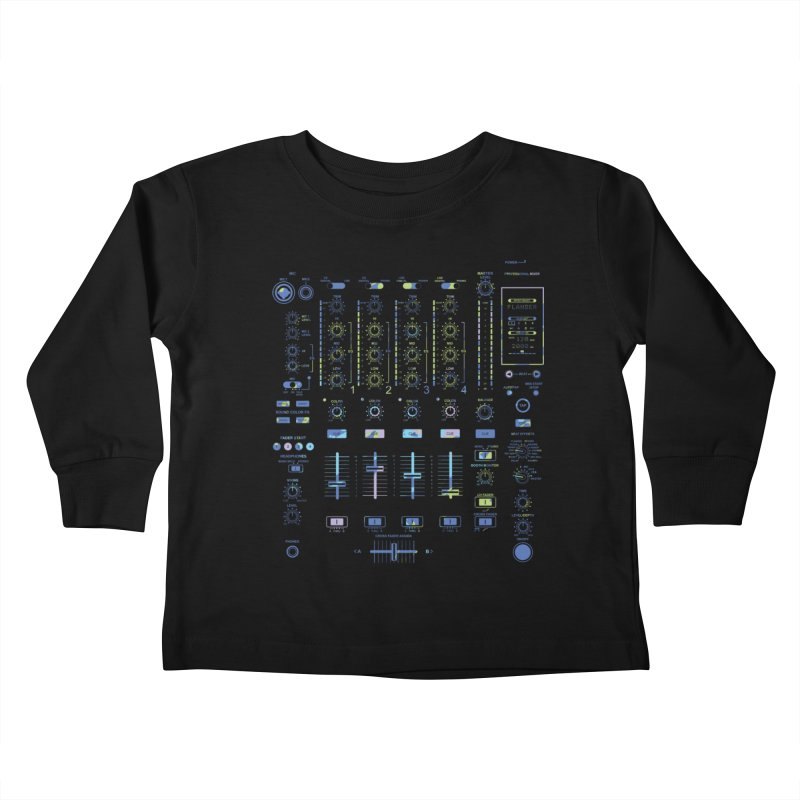 DJ Mixer Kids Toddler Longsleeve T-Shirt by Sitchko