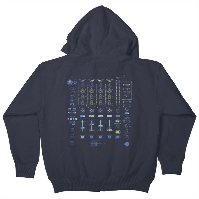 DJ Mixer Kids Zip-Up Hoody by Sitchko