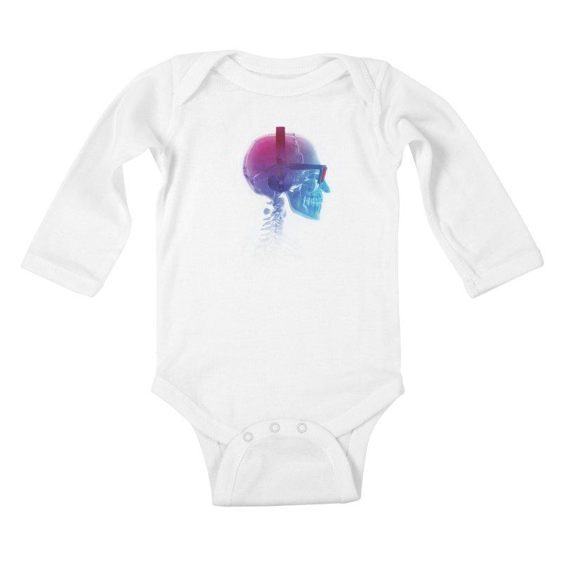 Electronic Music Fan Kids Baby Longsleeve Bodysuit by Sitchko