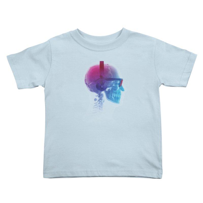 Electronic Music Fan Kids Toddler T-Shirt by Sitchko