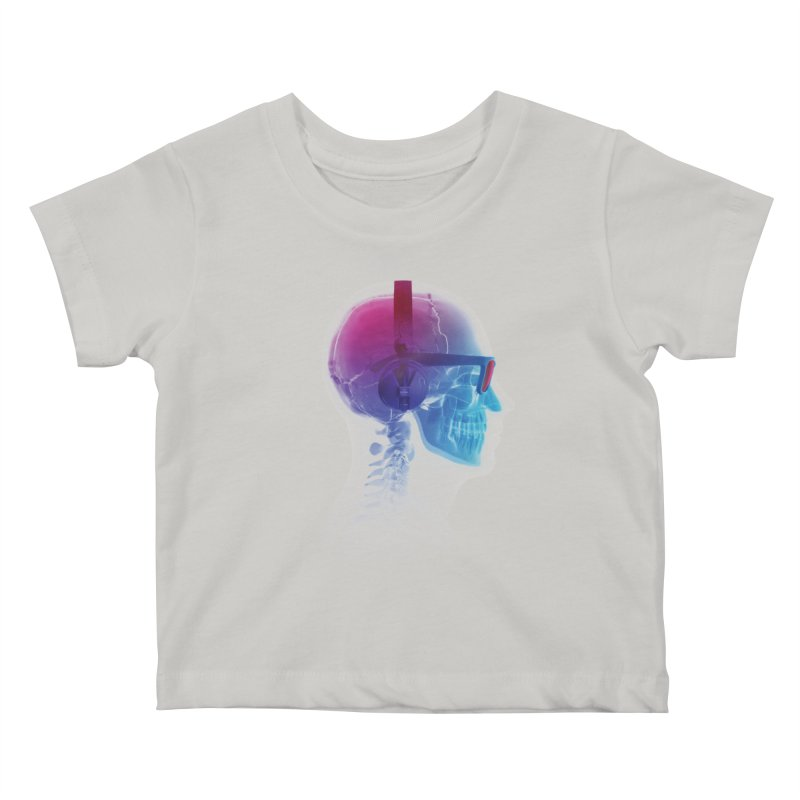 Electronic Music Fan Kids Baby T-Shirt by Sitchko