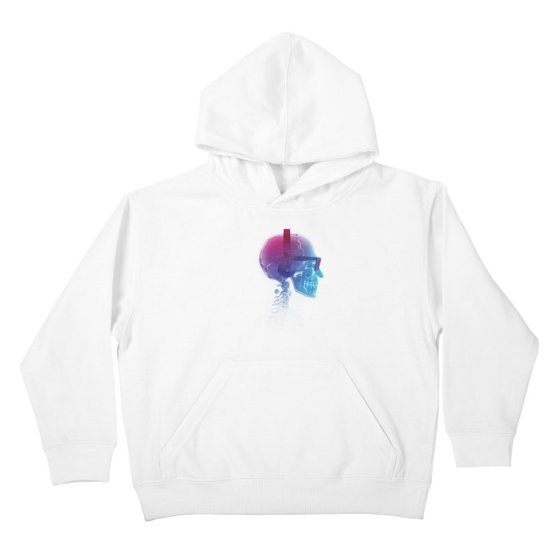 Electronic Music Fan Kids Pullover Hoody by Sitchko