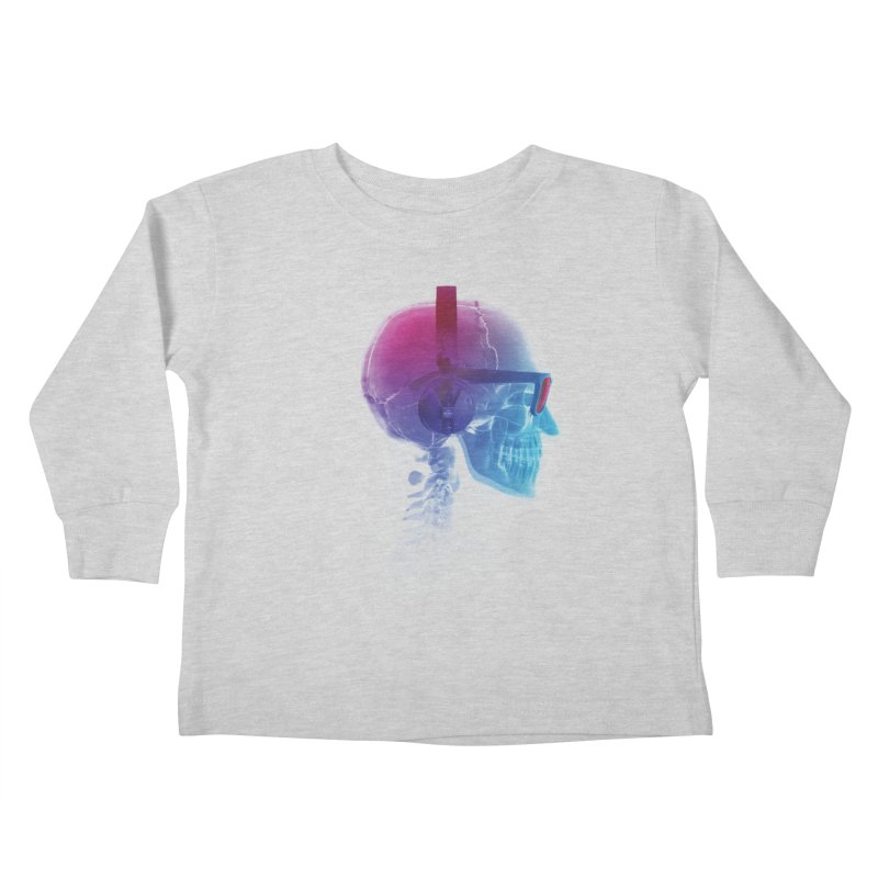 Electronic Music Fan Kids Toddler Longsleeve T-Shirt by Sitchko