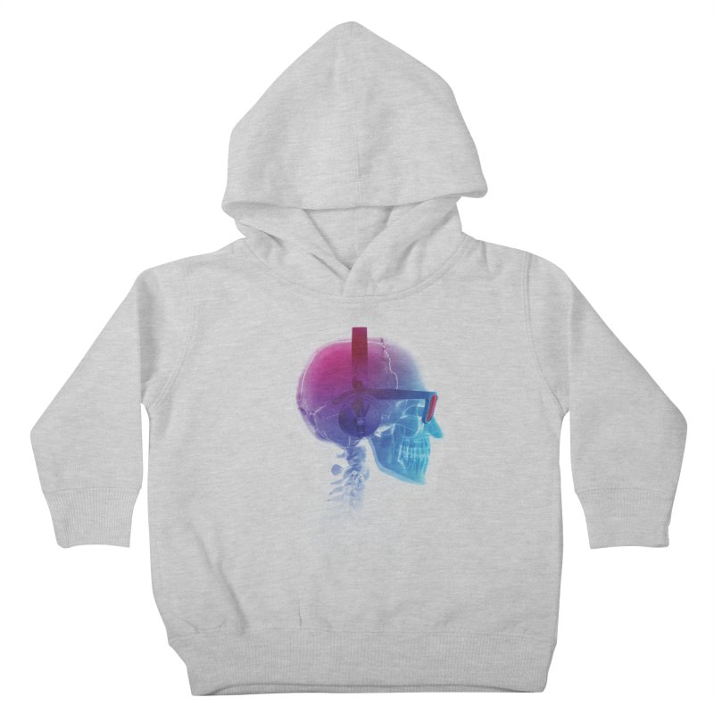 Electronic Music Fan Kids Toddler Pullover Hoody by Sitchko