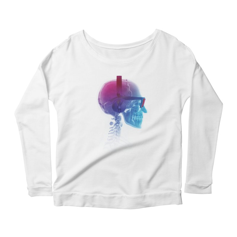 Electronic Music Fan Women's Longsleeve Scoopneck  by Sitchko