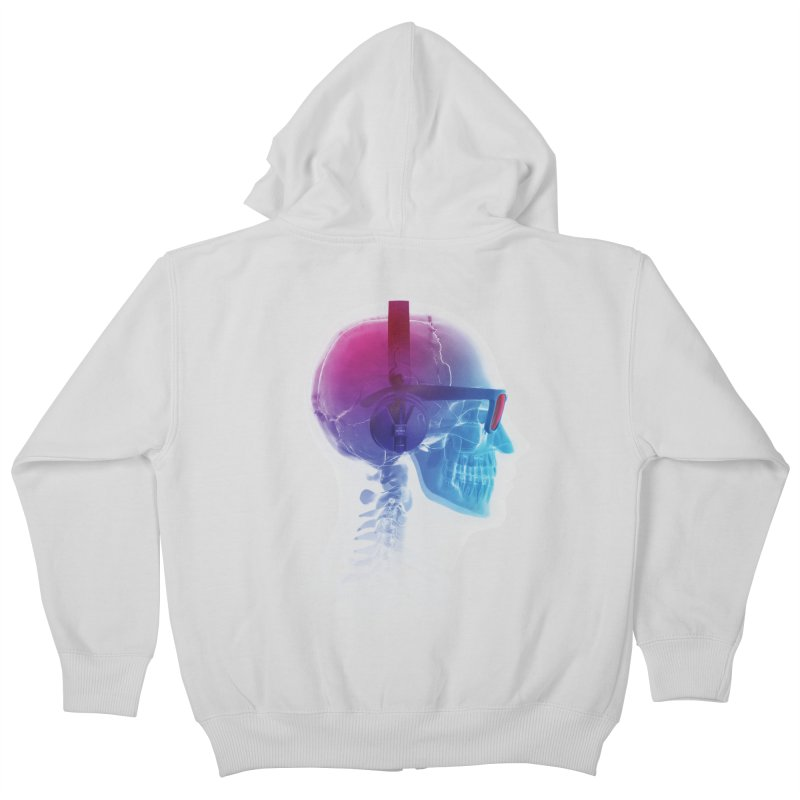 Electronic Music Fan Kids Zip-Up Hoody by Sitchko