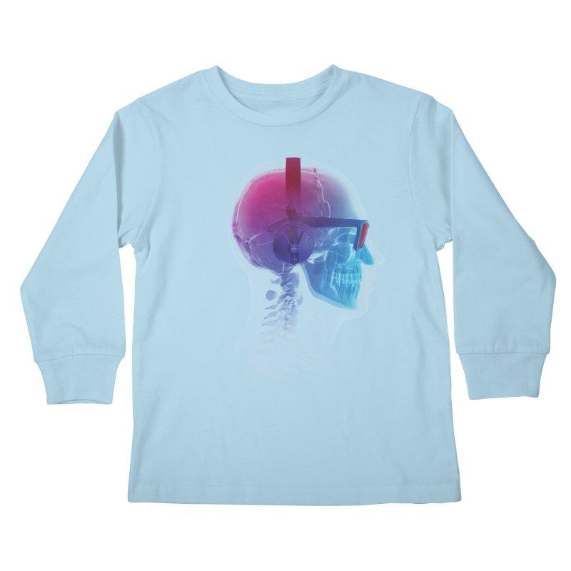 Electronic Music Fan Kids Longsleeve T-Shirt by Sitchko