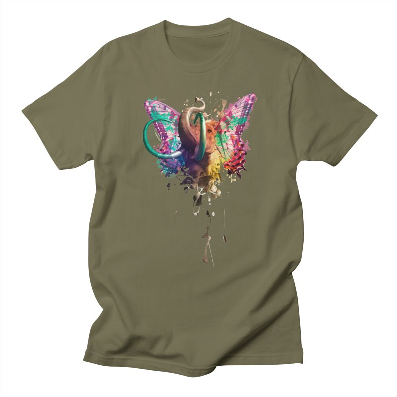 Elephant Need to Fly Men's T-shirt by Sitchko