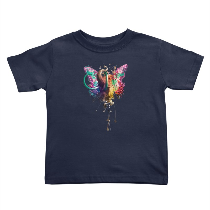 Elephant Need to Fly Kids Toddler T-Shirt by Sitchko