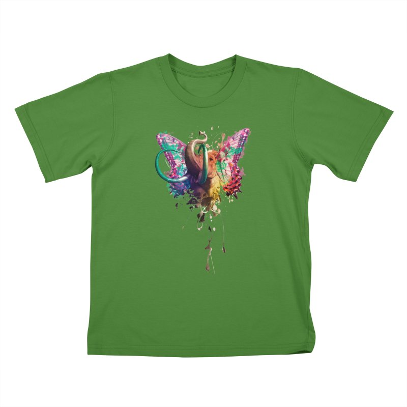 Elephant Need to Fly Kids T-shirt by Sitchko
