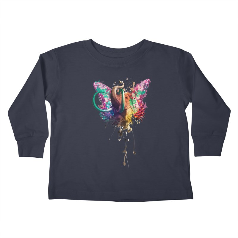 Elephant Need to Fly Kids Toddler Longsleeve T-Shirt by Sitchko