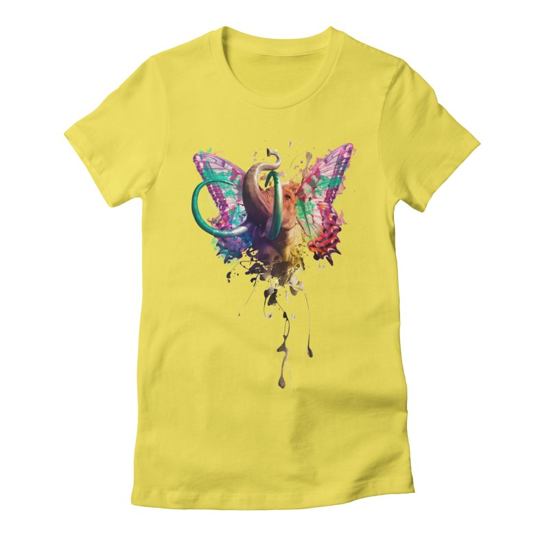 Elephant Need to Fly Women's Fitted T-Shirt by Sitchko