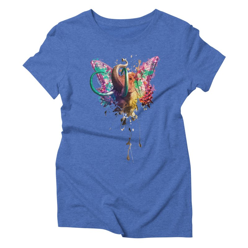 Elephant Need to Fly Women's Triblend T-Shirt by Sitchko