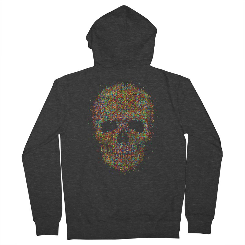 Acid Skull Men's Zip-Up Hoody by Sitchko