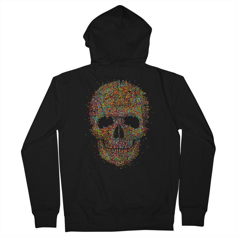 Acid Skull Men's Zip-Up Hoody by Sitchko