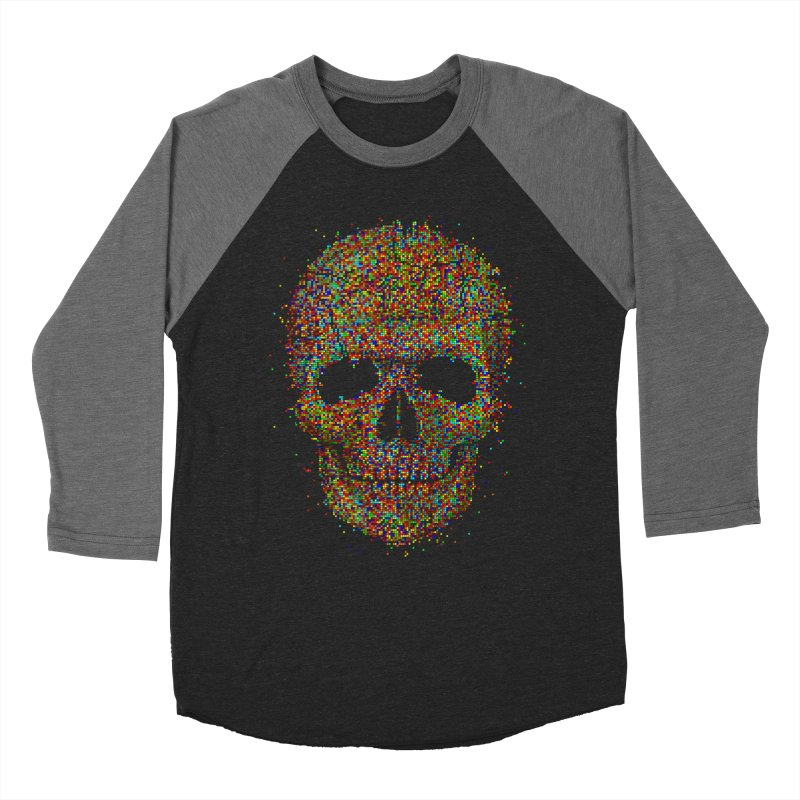 Acid Skull Men's Baseball Triblend T-Shirt by Sitchko