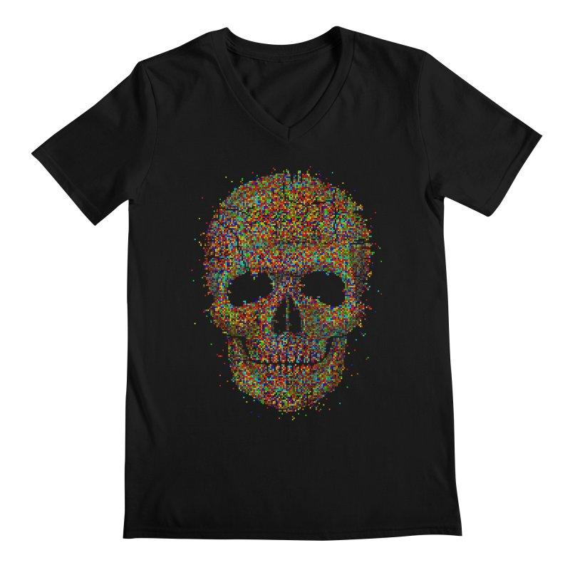 Acid Skull Men's V-Neck by Sitchko