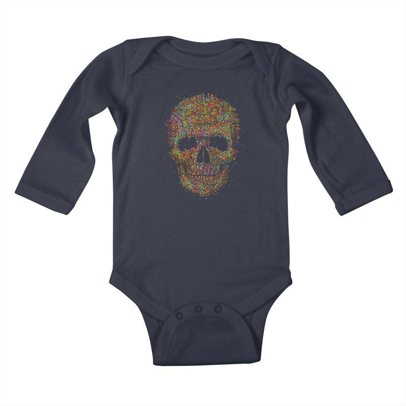 Acid Skull Kids Baby Longsleeve Bodysuit by Sitchko