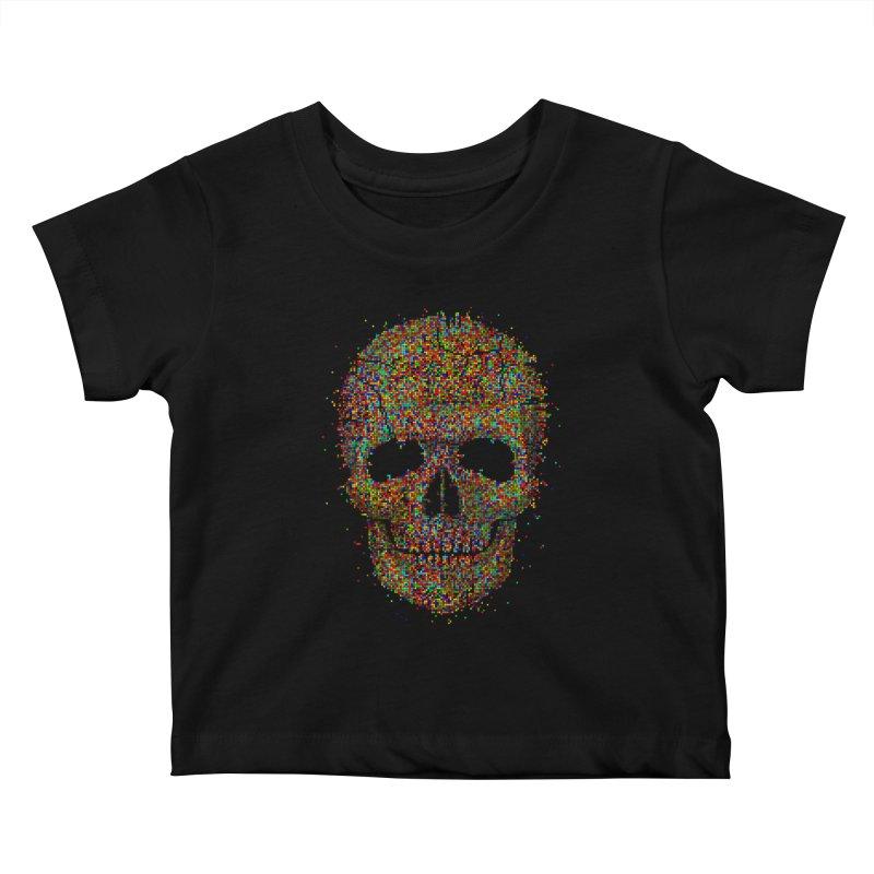 Acid Skull Kids Baby T-Shirt by Sitchko