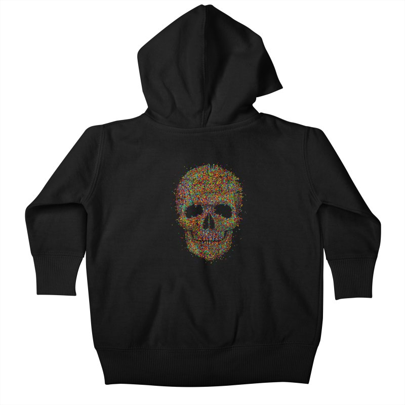 Acid Skull Kids Baby Zip-Up Hoody by Sitchko