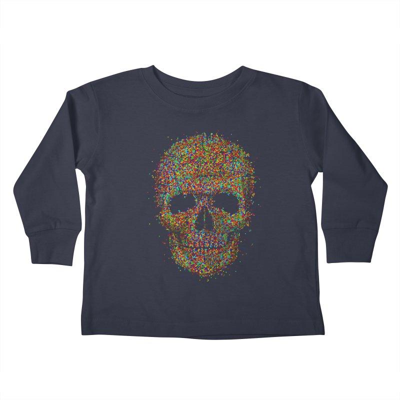 Acid Skull Kids Toddler Longsleeve T-Shirt by Sitchko