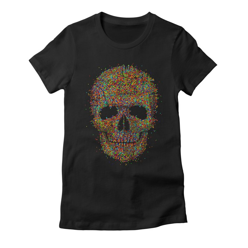 Acid Skull Women's Fitted T-Shirt by Sitchko