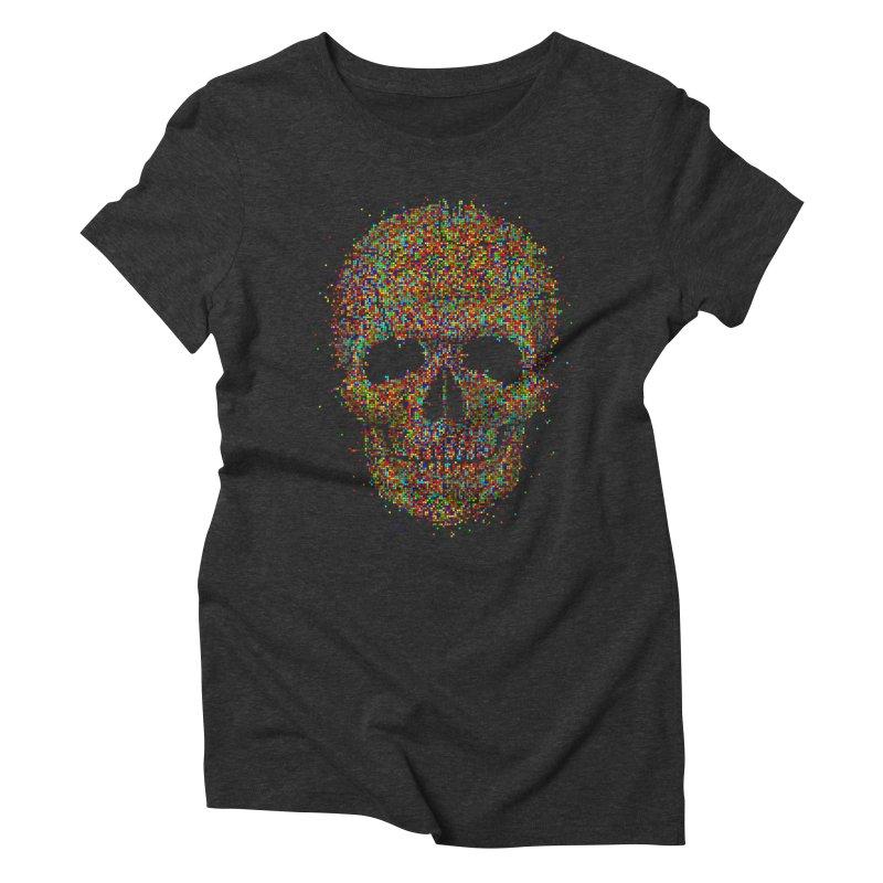 Acid Skull Women's Triblend T-Shirt by Sitchko