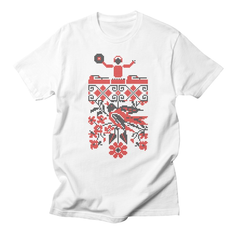 Ethno DJ in Men's T-shirt White by Sitchko