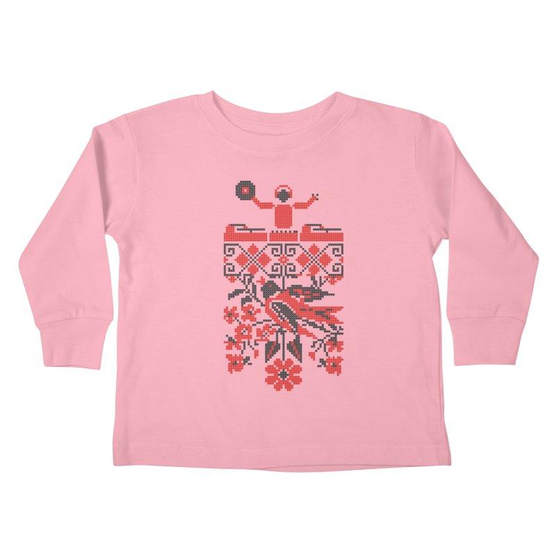 Ethno DJ Kids Toddler Longsleeve T-Shirt by Sitchko