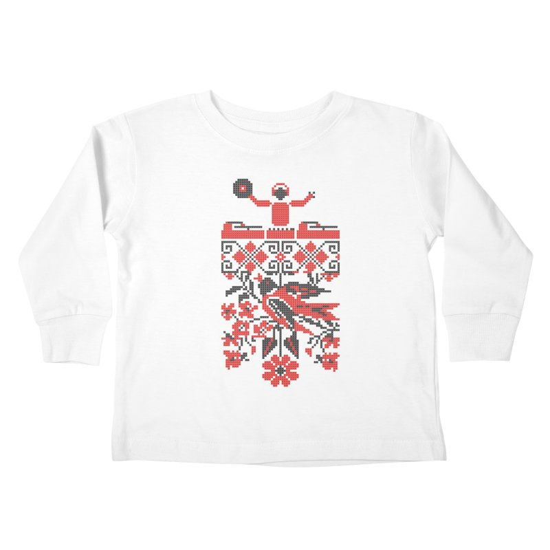 Ethno DJ Kids Toddler Longsleeve T-Shirt by Sitchko