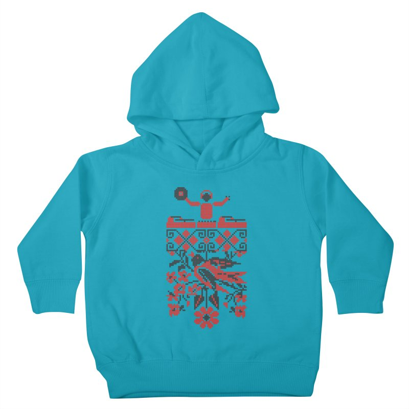 Ethno DJ Kids Toddler Pullover Hoody by Sitchko