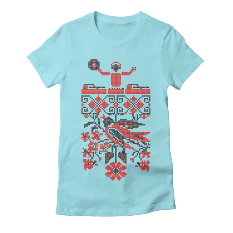 Ethno DJ Women's Fitted T-Shirt by Sitchko
