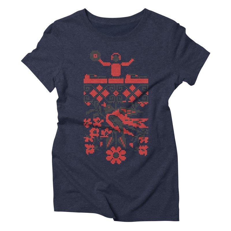 Ethno DJ Women's Triblend T-Shirt by Sitchko