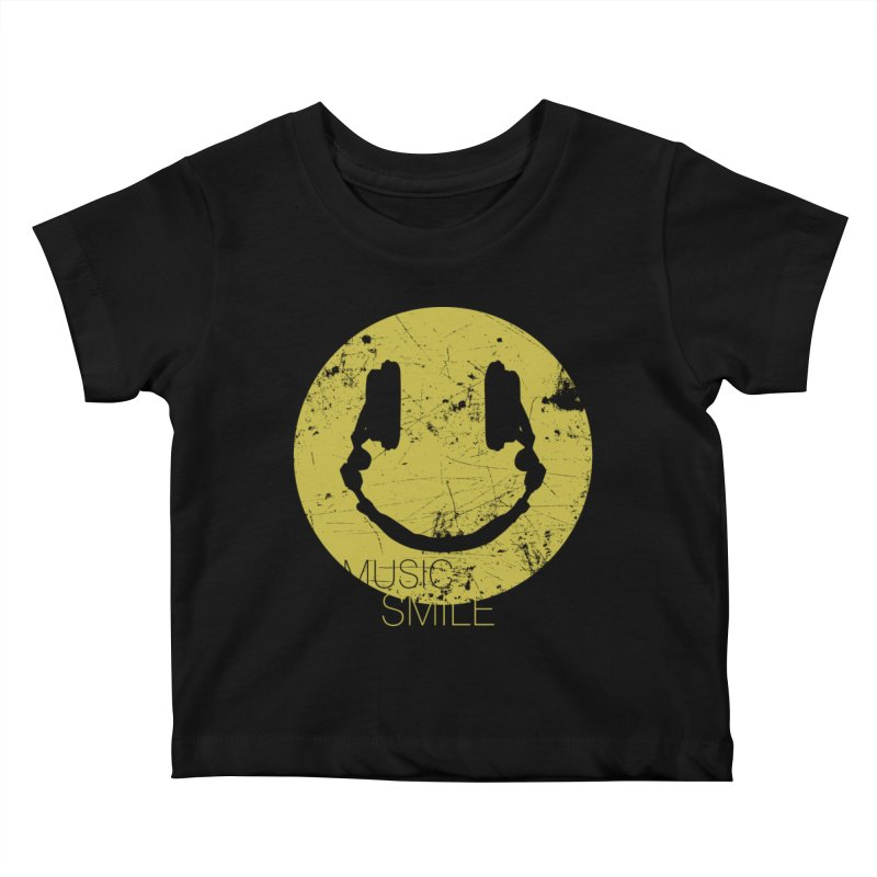 Music Smile Kids Baby T-Shirt by Sitchko