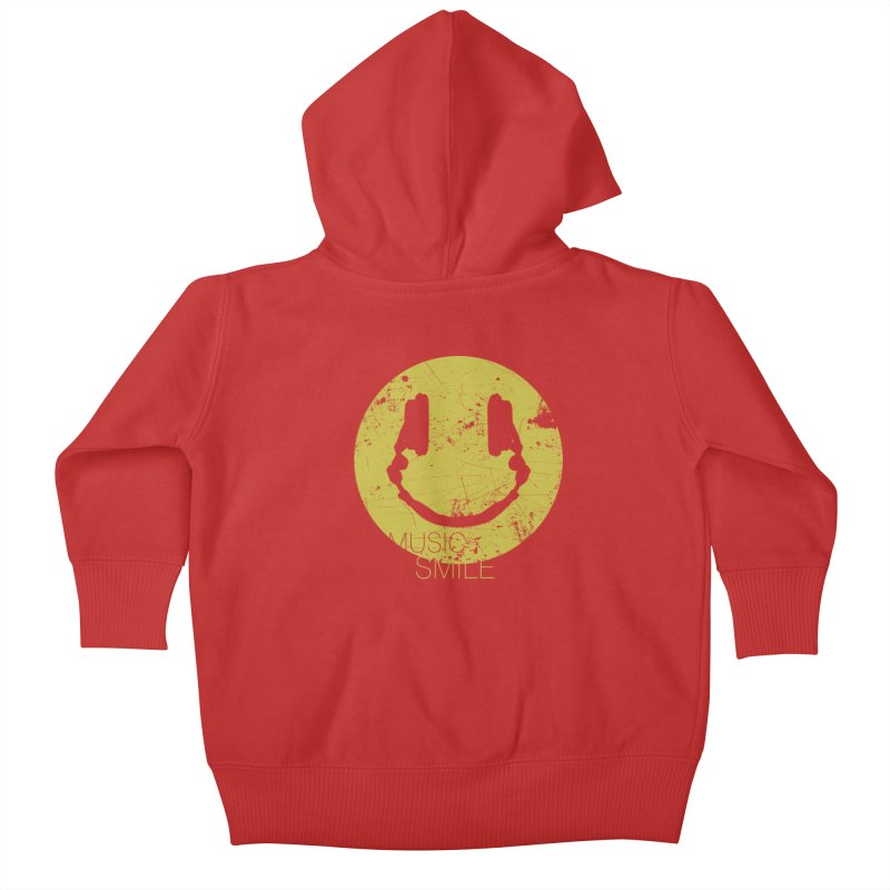 Music Smile Kids Baby Zip-Up Hoody by Sitchko