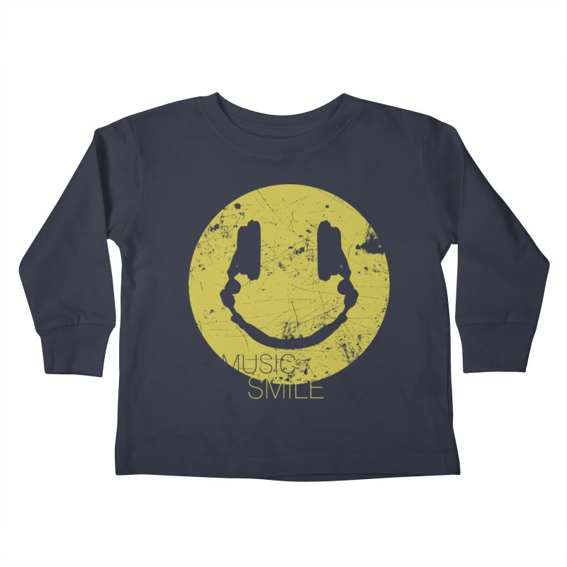 Music Smile Kids Toddler Longsleeve T-Shirt by Sitchko