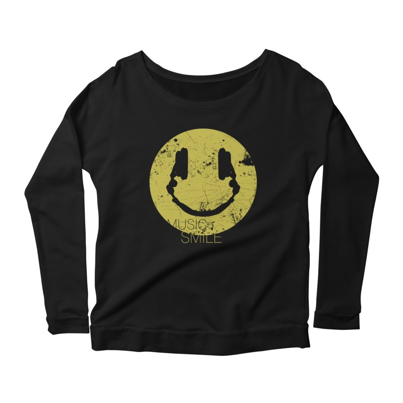 Music Smile Women's Longsleeve Scoopneck  by Sitchko
