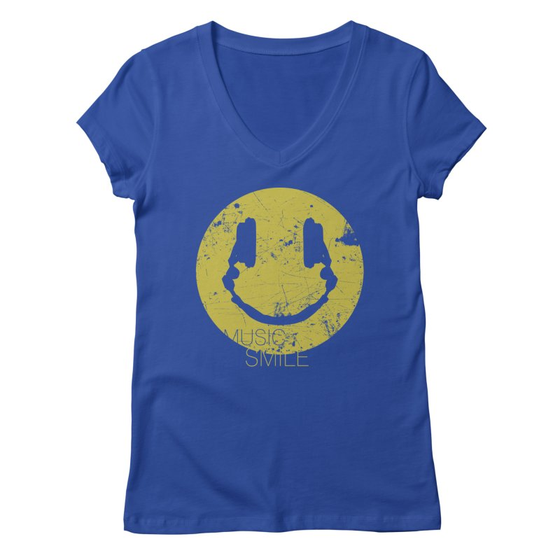 Music Smile Women's V-Neck by Sitchko
