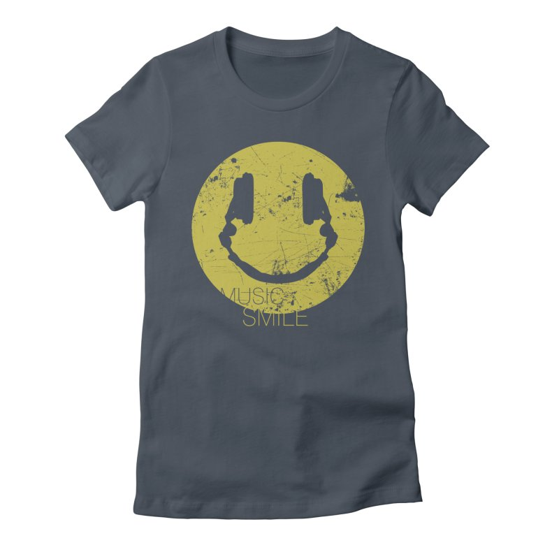 Music Smile Women's Fitted T-Shirt by Sitchko