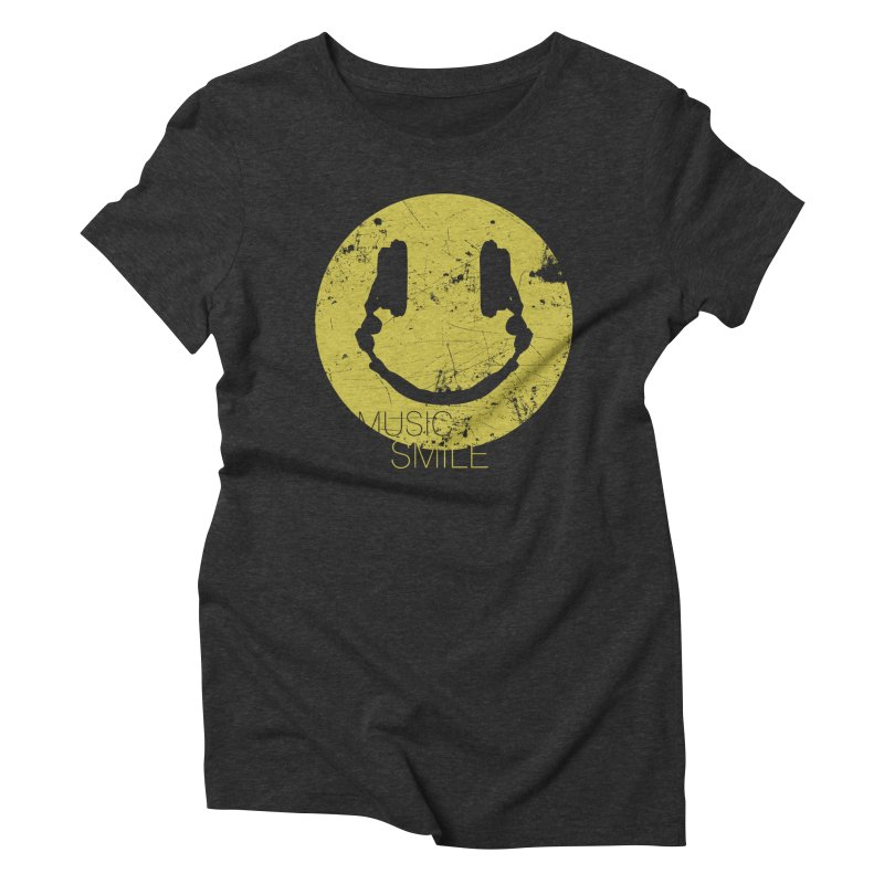 Music Smile Women's Triblend T-Shirt by Sitchko