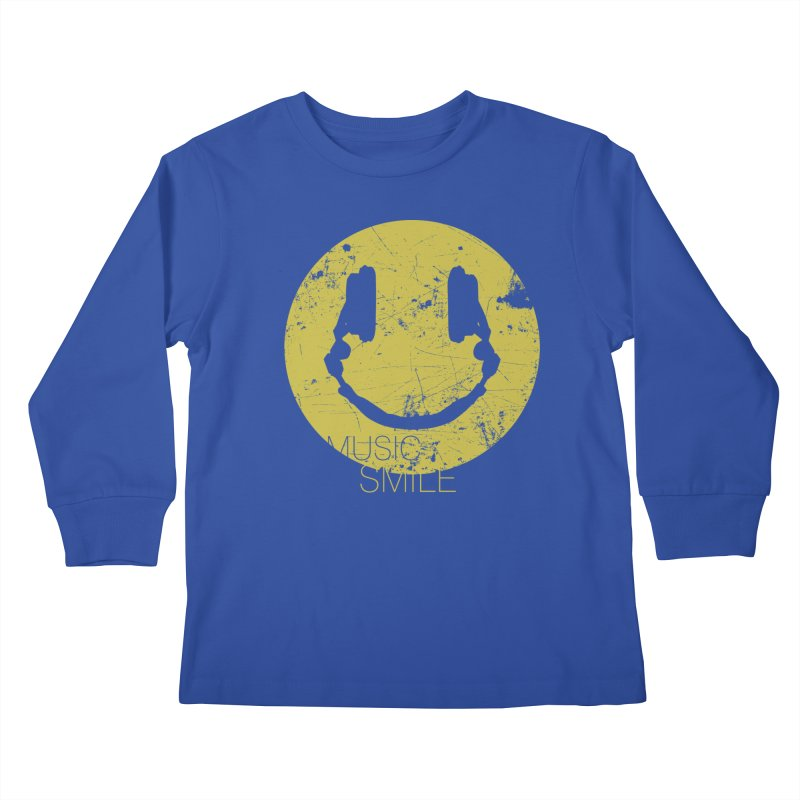 Music Smile Kids Longsleeve T-Shirt by Sitchko