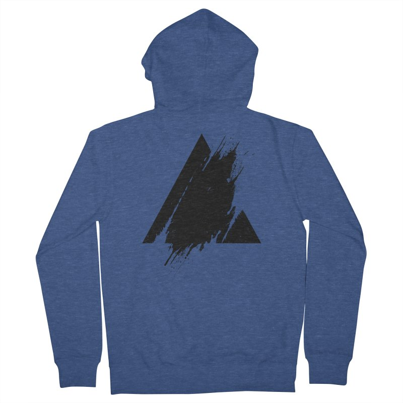 PLACE Splashed Triangle Men's Zip-Up Hoody by Sitchko