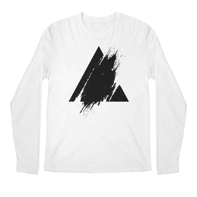 PLACE Splashed Triangle Men's Longsleeve T-Shirt by Sitchko