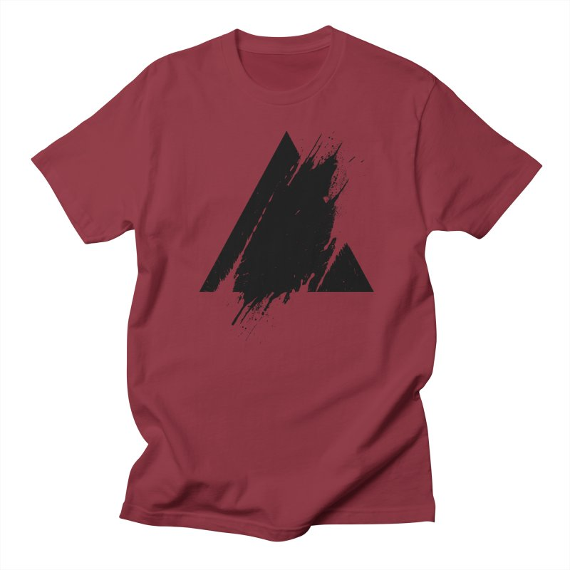 PLACE Splashed Triangle Men's T-Shirt by Sitchko