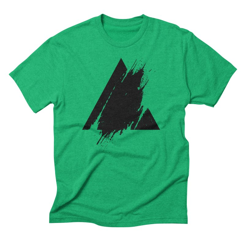 PLACE Splashed Triangle Men's Triblend T-Shirt by Sitchko