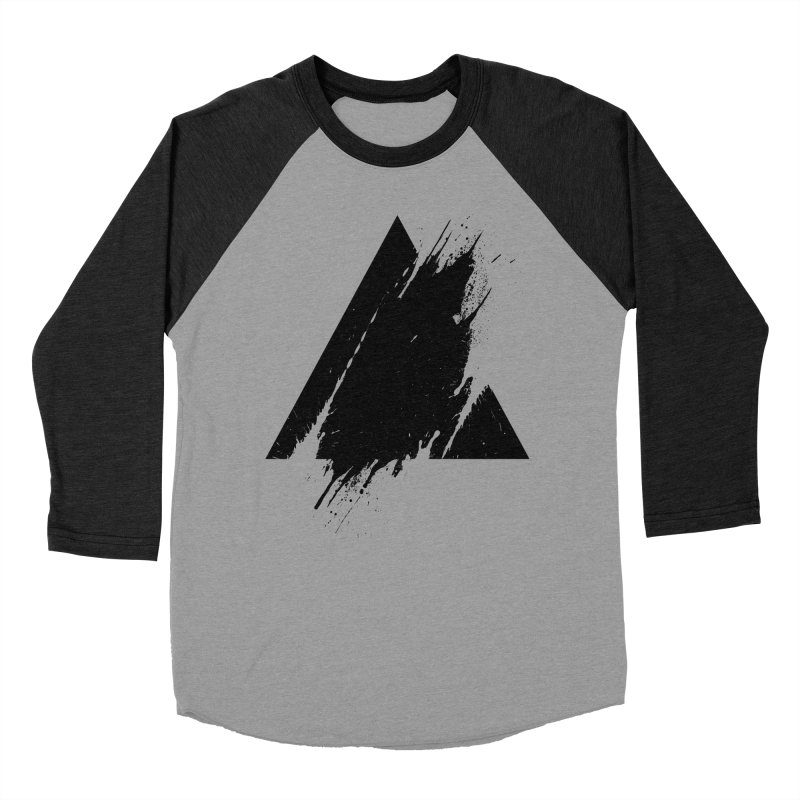 PLACE Splashed Triangle Men's Baseball Triblend T-Shirt by Sitchko
